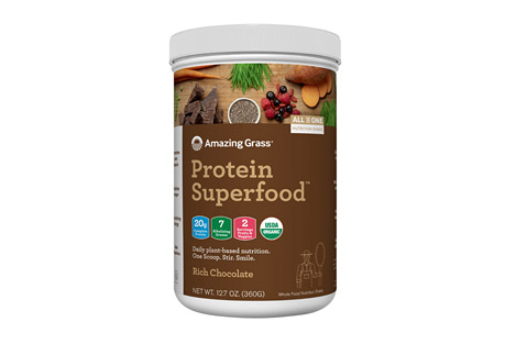 Amazing Grass Protein SuperFood Rich Chocolate Canister - 10 Servings