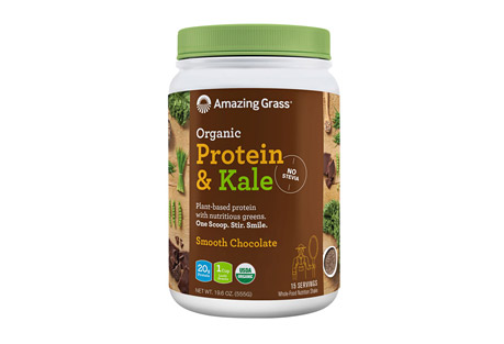 Amazing Grass Protein & Kale Smooth Chocolate Canister - 15 Servings