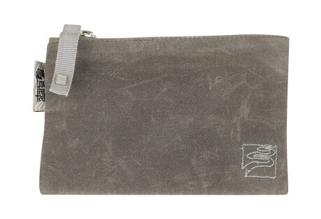 Atana Waxed Canvas Satch Zip Pouch - Small