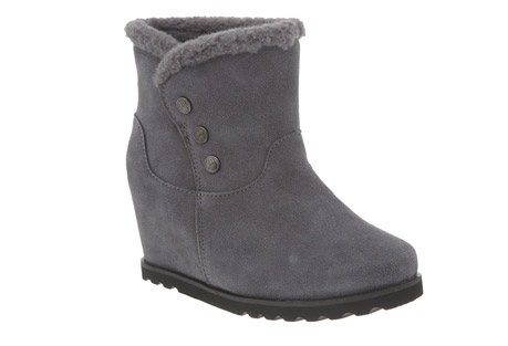 BearPaw Twill Suede Boots - Womens