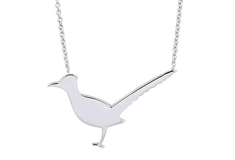 Endure Jewelry Co. Sterling Silver Roadrunner Necklace