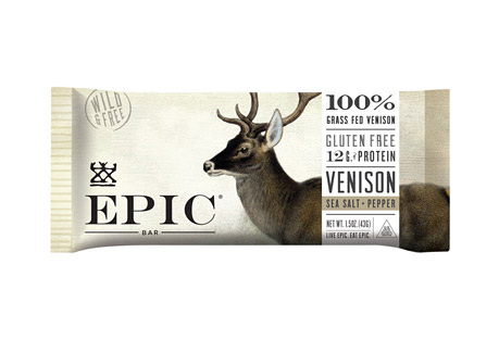 Epic Bar Venison Sea Salt Pepper Bars - Box of 12