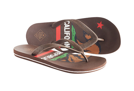 Freewaters Tommy Print Flip Flops - Men's