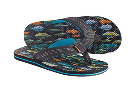 Freewaters Zac Print Flip Flops - Men's