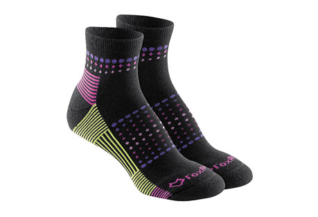 Fox River Ombre Sunrise Med Weight Qtr Crew Socks - Women's
