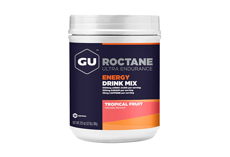 GU Tropical Fruit Roctane Energy Drink Mix Canister w/Caffeine - 12 Servings