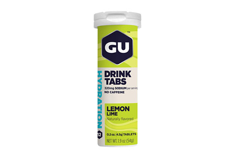 GU Lemon Lime Hydration Drink Tabs - Box of 8 Tubes