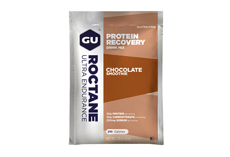 GU Chocolate Smoothie Roctane Protein Recovery Drink Mix - Box of 10