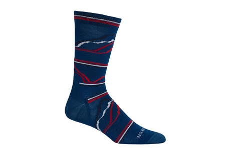 Icebreaker Lifestyle Ultra Light Crew Seismograph 7 Socks