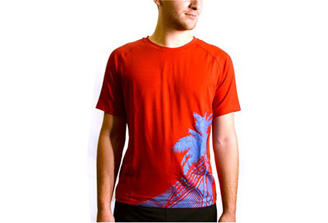 Janji Haiti Red Palm Tee - Mens