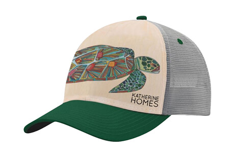 Katherine Homes Green Sea Turtle Baseball Hat