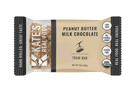 Kate's Real Food Tram Peanut Butter Milk Chocolate Bar - Box of 12