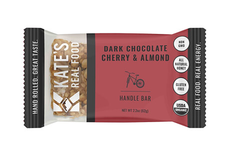 Kate's Real Food Handle Dark Chocolate Cherry Almond Bar - Box of 12