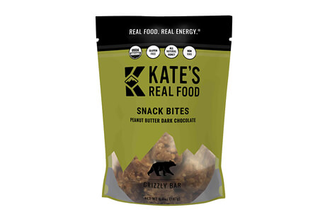 Kate's Real Food Grizzly Peanut Butter Dark Chocolate Snack Bites Bag