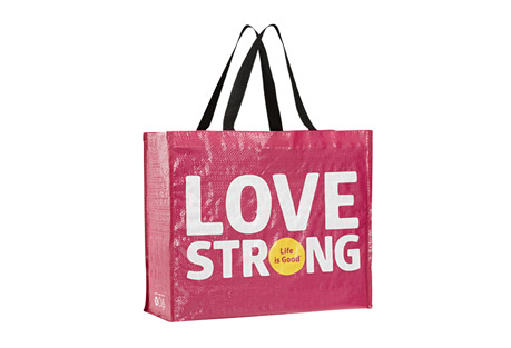 Life is Good Love Strong Recycled Tote