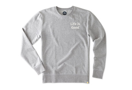 Life is Good Bold Go-To Crew Sweatshirt - Men's