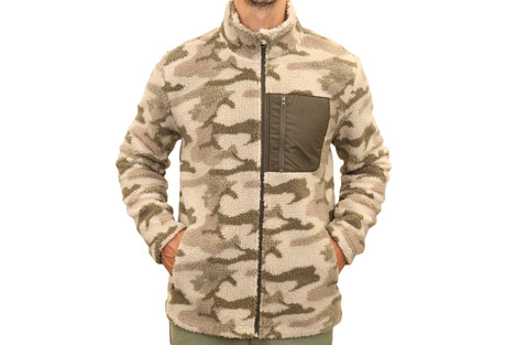Mountain and Isles Grizzly Sherpa Mixed Media Fleece - Men's