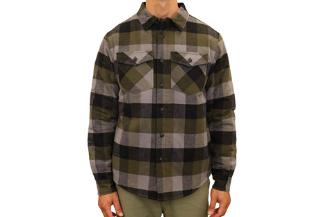 Mountain and Isles Filled Mixed Media Shirt Jacket - Men's
