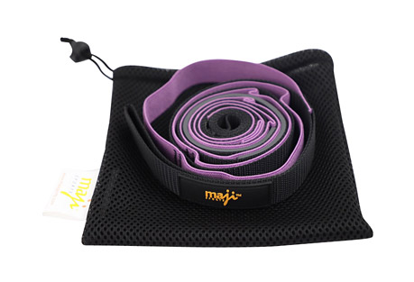 Maji Elastic Yoga Straps (With 9 Loops)