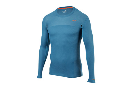 Mizuno Breath Thermo Body Mapping Long Sleeve - Men's