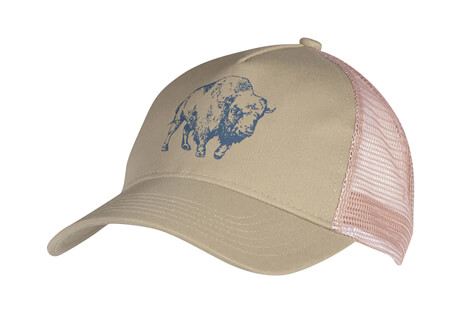 Mountain Khakis Bison Illustration Trucker Cap