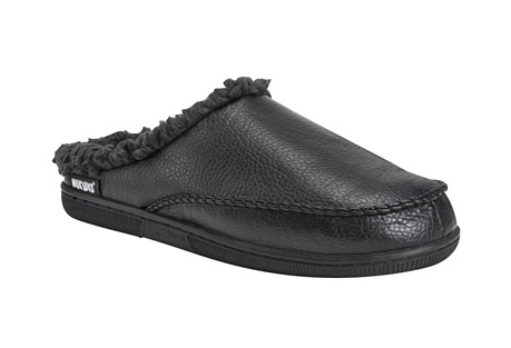 MUK LUKS Faux Leather Clog Slippers - Men's