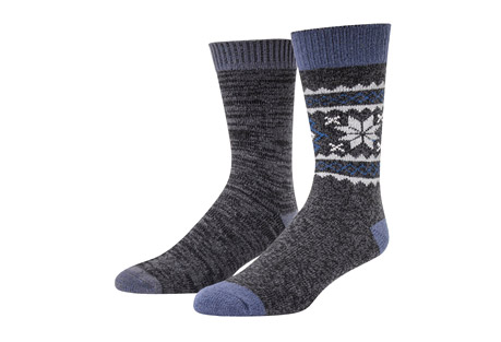 MUK LUKS 2-Pair Fluffy Yarn Boot Socks