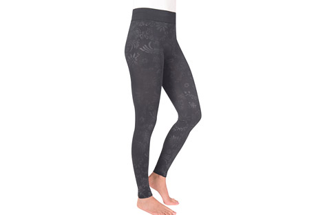 MUK LUKS Embossed Fleece-Lined Leggings - Women's