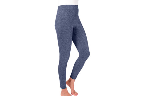 MUK LUKS Marl Fleece-Lined Leggings - Women's