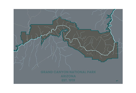 Muir Way Grand Canyon National Park - Luster Paper Print