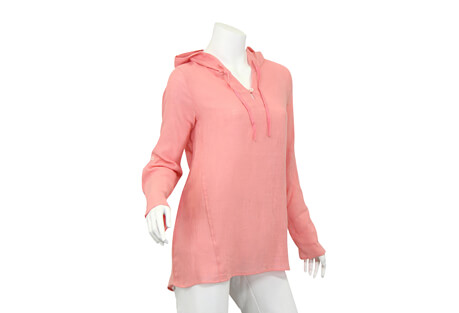 North River Apparel Lt Woven V Neck Hoodie - Women's
