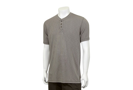North River Apparel Heathered 3 Button Henley Short Sleeve - Men's