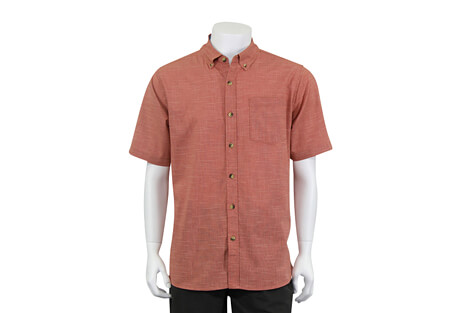 North River Apparel Cross Hatch Button Up Short Sleeve - Men's