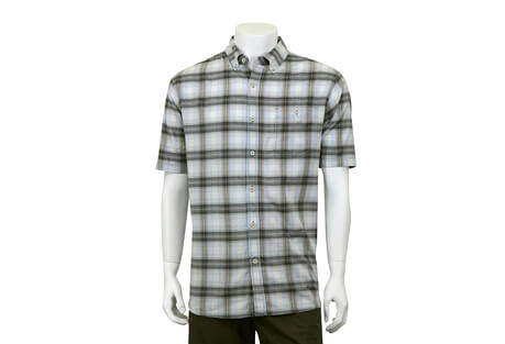 North River Apparel Herringbone Button Up Short Sleeve - Men's