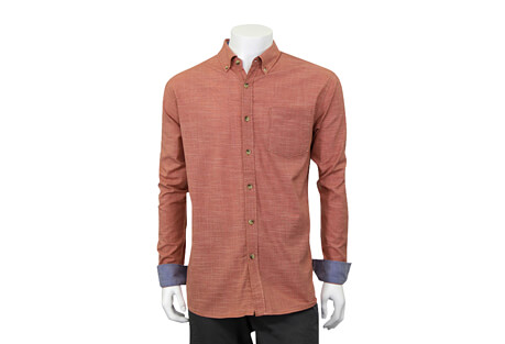 North River Apparel Cross Hatch Button Up Long Sleeve - Men's
