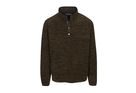 North River Apparel Long Sleeve Space Dyed Micro Fleece Pullover - Men's