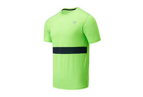 New Balance Striped Accelerate Short Sleeve - Men's