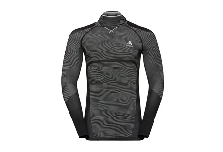 Odlo Blackcomb Long Sleeve Base Layer Top with Face Mask - Men's