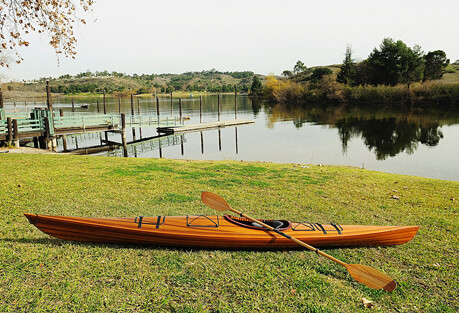 Old Modern Handicrafts Sit Inside Single Person Wooden Kayak 17'