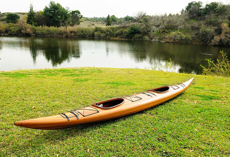 Old Modern Handicrafts Tandum Sit Inside Wooden Kayak 19'