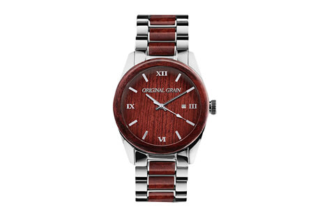 Original Grain Classic 43mm Rosewood Watch