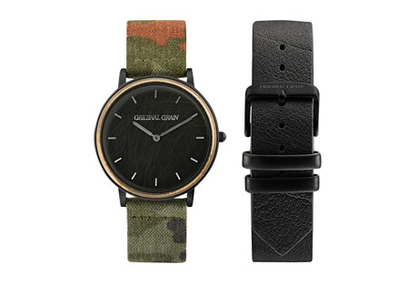 Original Grain Caliber Military Minimalist 40mm Watch Set