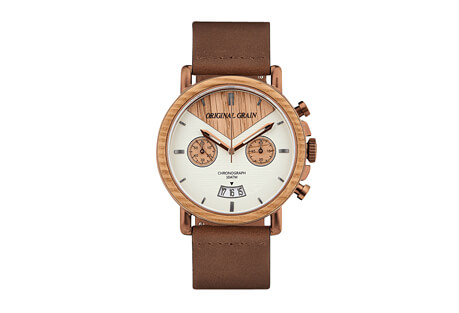 Original Grain Whiskey Chrono Leather 44mm Watch