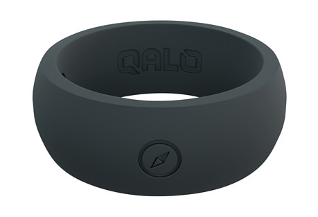 Qalo Outdoors Slate Grey Silicone Ring - Men's