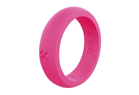Qalo Quality Pink Silicone Ring - Women's