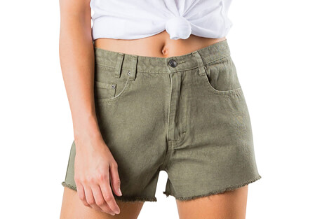 Rusty Yesterdays Color High Denim Short - Women's