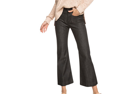 Roxy Black Shade High Waist Wide Leg Jeans - Women's