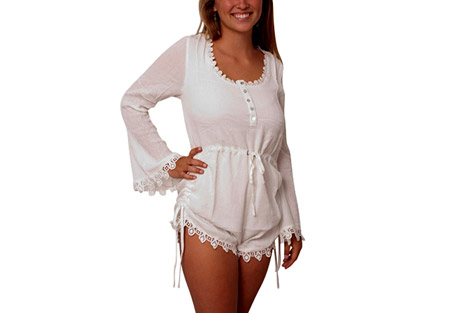 Sea Gypsies Avens Bell Romper Long Sleeve - Women's