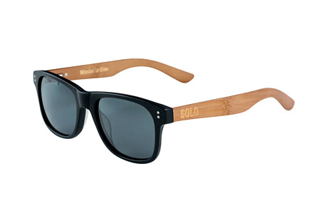 Solo Eyewear Dominican Polarized Bamboo Sunglasses
