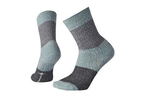 Smartwool Color Block Cable Crew Socks - Women's